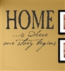 HOME...is where our story begins Vinyl Wall Art Decal Sticker