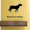 Hanoverian Scent hound Silhouette Vinyl Wall Art Decal Sticker