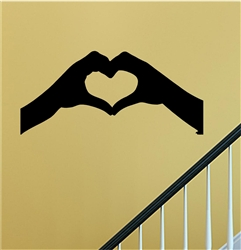 Heart hands Silhouette Vinyl Wall Art Decal Sticker