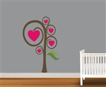 Heart Tree Vinyl Wall Art Decal Peel and Stick Sticker