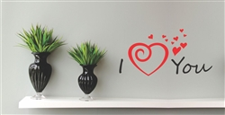 I Love You Vinyl Wall Art Decal Sticker