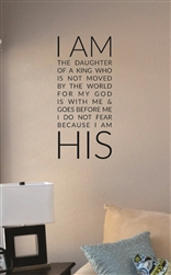 I am the daughter of a king Vinyl Wall Art Decal Sticker