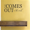 IT ALL COMES OUT in the wash Vinyl Wall Art Decal Sticker