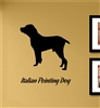 Italian Pointing Dog Silhouette Vinyl Wall Art Decal Sticker