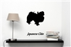 Japanese Chin Silhouette Vinyl Wall Art Decal Sticker