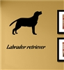 Labrador Retriever Silhouette Vinyl Wall Art Decal Sticker