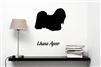 Lhasa Apso Silhouette Vinyl Wall Art Decal Sticker