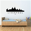LIVERPOOL UK City Skyline Vinyl Wall Art Decal Sticker