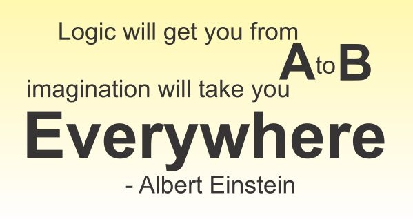 Logic Will Get You From A To B Imagination Will Take You Everywhere Albert Einstein Vinyl Wall Art Decal Sticker