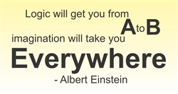 Logic will get you from A to B imagination will take you Everywhere - Albert Einstein Vinyl Wall Art Decal Sticker