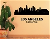 LOS ANGELES California City Skyline Vinyl Wall Art Decal Sticker