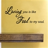 Loving you is like Food to my soul. Vinyl Wall Art Decal Sticker