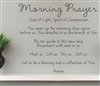 Morning Prayer God of Light, Spirit of Compassion  Vinyl Wall Art Decal Sticker