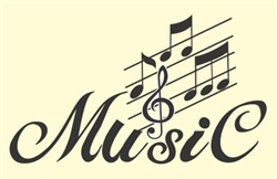 Music with notes Vinyl Wall Art Decal Sticker