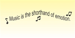 Music is the shorthand of emotion. Vinyl Wall Art Decal Sticker