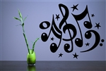 Music Notes Vinyl Wall Art Decal Sticker