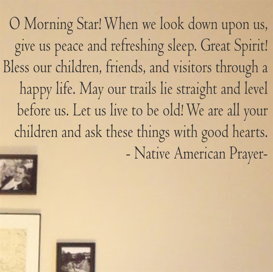 o morning star native american prayer vinyl wall art decal sticker alternative views