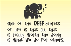 One of the DEEP secrets of life is that all is really worth the doing is what we do for others. Vinyl Wall Art Decal Sticker
