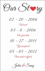 Our Story Anniversary Dates Vinyl Wall Mural Decal Sticker
