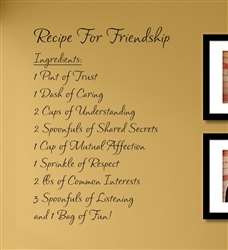 Recipe For Friendship Vinyl Wall Art Decal Sticker