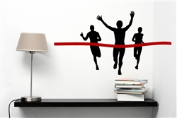 Runner winning Race Vinyl Wall Art Decal Sticker