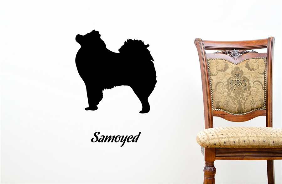 Samoyed Silhouette Vinyl Wall Art Decal Sticker
