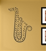 Saxophone music notes Vinyl Wall Art Decal Sticker