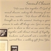 Second Chance We came late together, O God of second chances, making the discovery of our love even sweeter.  Vinyl Wall Art Decal Sticker