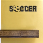 Soccer Vinyl Wall Art Decal Sticker