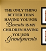 The Only thing better than having you for Parents is my children Having you for grandparents  Vinyl Wall Art Decal Sticker