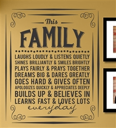 This Family Laughs Loudly & Listens Quietly Shines Brilliantly & Smiles brightly...  Vinyl Wall Art Decal Sticker