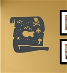 Treasure map Vinyl Wall Art Decal Sticker