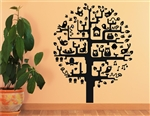 Tree with Owl Vinyl Wall Art Decal Sticker
