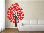 Tree with hearts Vinyl Wall Art Decal Peel and Stick Sticker