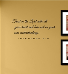 Trust In The Lord With All Your Heart Vinyl Wall Art Decal Sticker