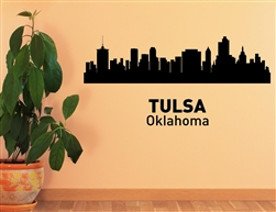 Tulsa Oklahoma City Skyline Vinyl Wall Art Decal Sticker