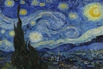 Van Gogh Starry Night Vinyl Wall Mural Decal Sticker