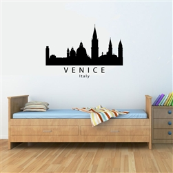 VENICE Italy City Skyline Vinyl Wall Art Decal Sticker