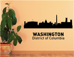 WASHINGTON District of Columbia City Skyline Vinyl Wall Art Decal Sticker