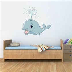 Whale Vinyl Wall Art Decal Peel and Stick Sticker