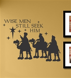 WISE MEN STILL SEEK HIM Vinyl Wall Art Decal Sticker