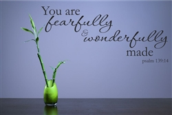 You are fearfully & wonderfully made psalm 139:14 Vinyl Wall Art Decal Sticker