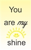 You are my shine Vinyl Wall Art Decal Sticker