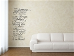 YOU ARE THE poem I dreamed of writing the MASTERPIECE I LONGED TO paint...  Vinyl Wall Art Decal Sticker