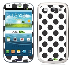 Black and White Polka Dots Phone Skin Decal Sticker