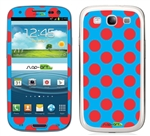 Blue and Red Polka Dots Phone Skin Decal Sticker