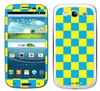 Blue and Yellow Checkered Phone Skin Decal Sticker