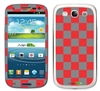 Grey and Red Checkered Phone Skin Decal Sticker
