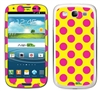 Hotpink and Yellow Polka Dots Phone Skin Decal Sticker