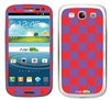 Purple and Red Checkered Phone Skin Decal Sticker